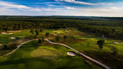 The Loop at Forest Dunes in Roscommon, Michigan is a first-of-its kind reversible course built by Tom Doak that features two distinct layouts using the same 18 greens but playing clockwise one day and counterclockwise the next.  Photo courtesy of Brian Walters.