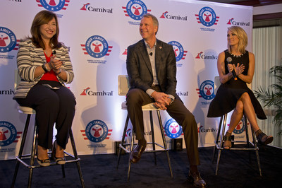 Carnival Cruise Line, Operation Homefront and Carrie Underwood announce partnership.