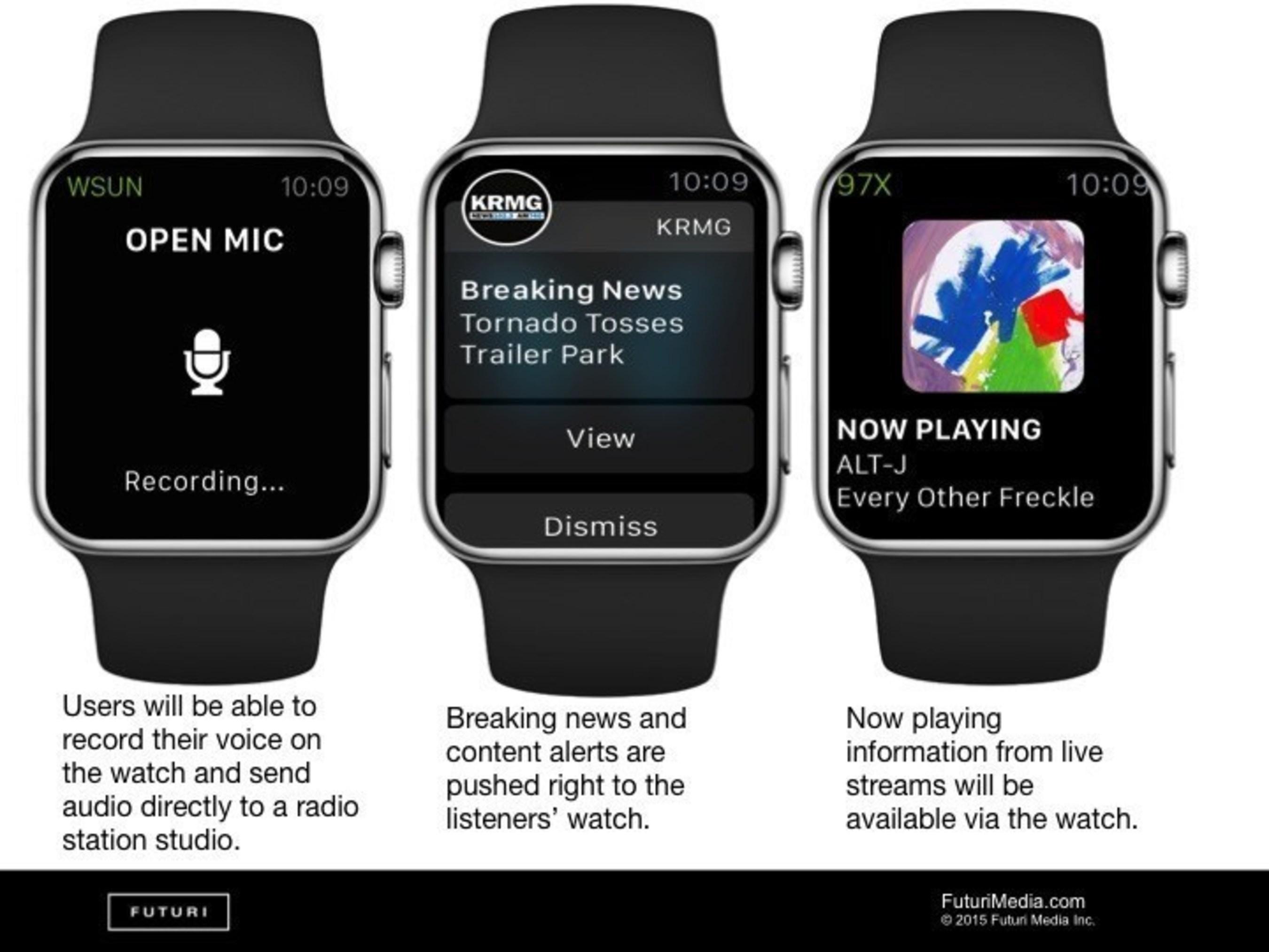 Futuri Media Announces Integration with Apple Watch and Futuri Mobile Platform