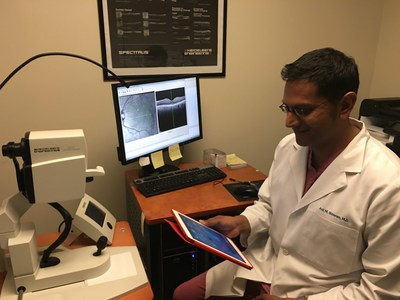 Anil Shivaram, M.D., from Claremont Eye Associates in Claremont, CA prepares for a cataract surgery on his iPad. IBM and Bausch + Lomb are collaborating on a first-of-its-kind app for iPhone, iPad to assist surgeons who perform the estimated 20 million cataract surgeries performed  worldwide annually