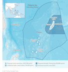 "The creation of the national marine sanctuary makes Palau the first country to declare the waters of its entire exclusive economic zone (EEZ) a marine protected area, with an integral part of the sanctuary a fully protected ""no take"" zone of 500,000 square kilometers (193,000 square miles)."