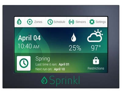 Using a patent pending wireless mesh network of ground sensors, Sprinkl's next generation irrigation controller knows how much water is needed for lawns.