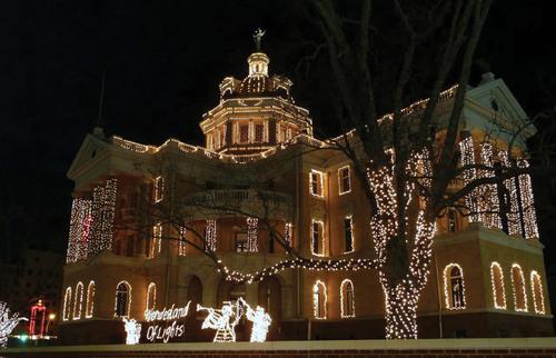 Holiday Lights: Stars Shine on Wonderland of Lights in Marshall, Texas