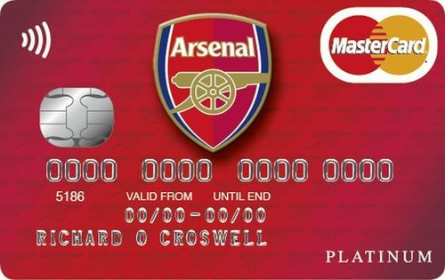 The Arsenal credit card from MBNA (PRNewsFoto/MBNA Limited)