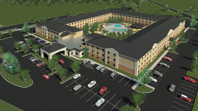 Breakers Express transforms into Cedar Point's Express Hotel in 2017 with a complete renovation. The hotel will add 69 new rooms, updated bathrooms and bedding, connecting family suites and more. A new splash pad and outdoor courtyard featuring conversational living spaces will join the whimsical swimming pool and deck area.