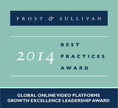 Kaltura receives Global Growth Excellence Leadership Award. (PRNewsFoto/Frost & Sullivan)