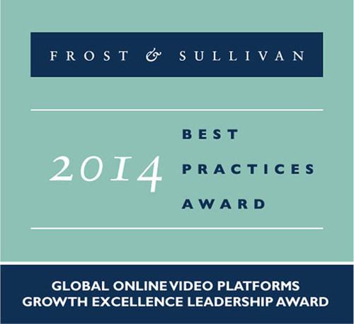 Kaltura receives Global Growth Excellence Leadership Award. (PRNewsFoto/Frost & Sullivan)