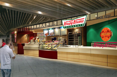 Located in Singapore's famous Tangs Orchard Basement 1, the new 1,200 square-foot doughnut cafe is the first of 15 stores expected to open in Singapore under the Star360 Group.  (PRNewsFoto/Krispy Kreme Doughnut Corporation)