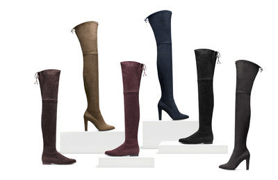 """STUART WEITZMAN LAUNCHES """"THIGH'S THE LIMIT"""": A SPECIAL ORDER PROGRAM   FEATURING THE NEW EXTREME THIGH-HIGH BOOTS"""