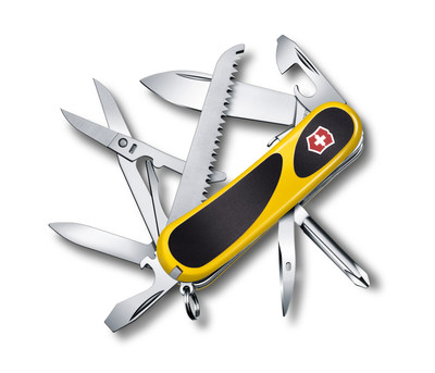 The EvoGrip S18 is part of the new Delemont Collection from Victorinox Swiss Army. (PRNewsFoto/Victorinox Swiss Army)