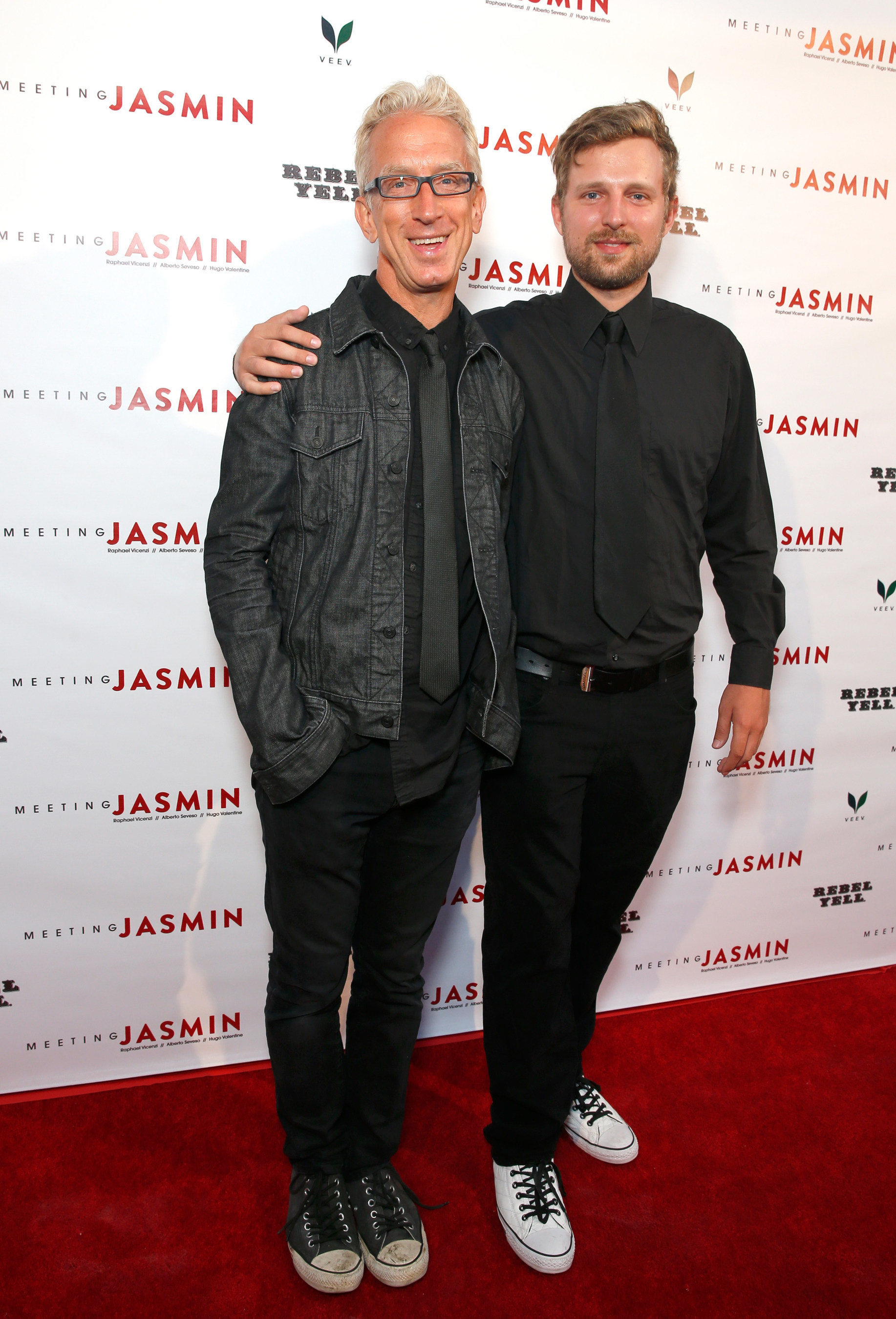 Actor Andy Dick and son, Lucas Dick, walked the red carpet together while attending the Meeting JASMIN fine art exhibition in Los Angeles, CA.