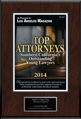Attorney Sally S. Chan Selected for List of Top Rated Lawyers in CA. (PRNewsFoto/American Registry)