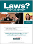 ATFA Launches Ad Campaign, Highlights Argentina's Contempt for U.S. Courts
