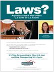 ATFA lanza campaña publicitaria, subraya el desprecio de la Argentina por los tribunales de los Estados Unidos