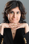 CEO & Creative Director Sri Lakshmi of Piedmonte Jewelry models the Sri Lakshmi Leap Collection
