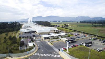 Corona ceramic tile manufacturing operations in Columbia.