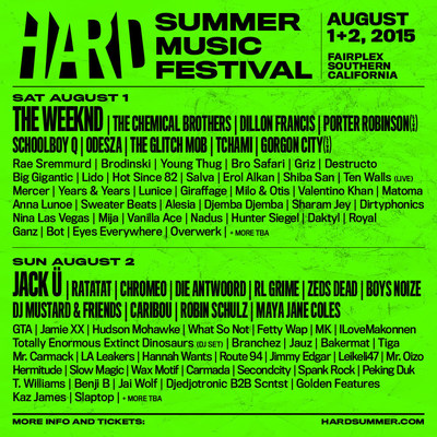 8th ANNUAL HARD SUMMER MUSIC FESTIVAL REVEALS LINE-UP