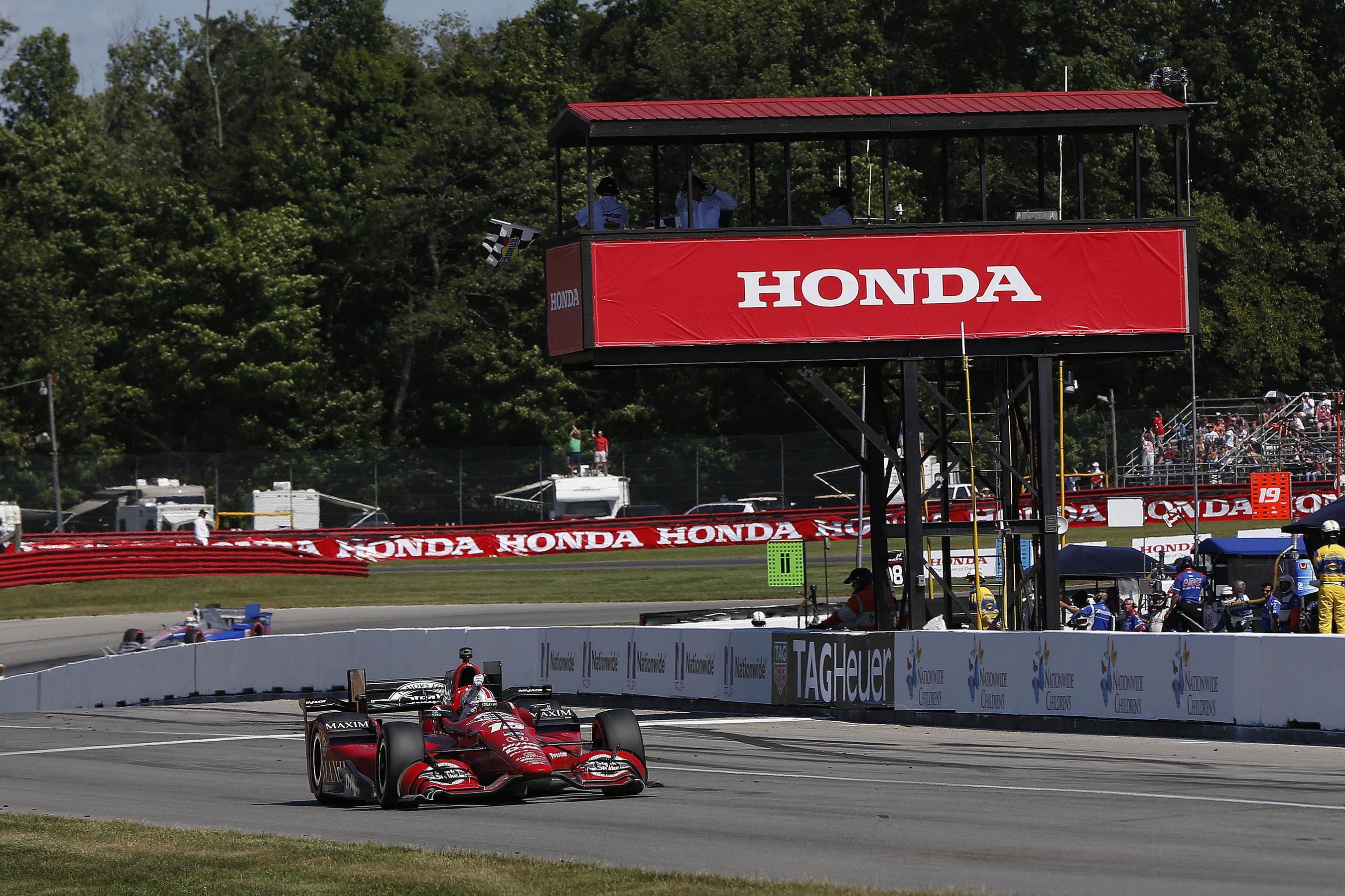 Rahal, Maestro de Honda en Mid-Ohio