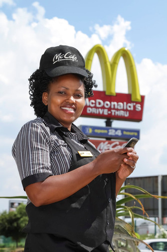 McDonald's employees will use IBM social business technologies to communicate with colleagues and management across South Africa.  (PRNewsFoto/IBM Corporation)