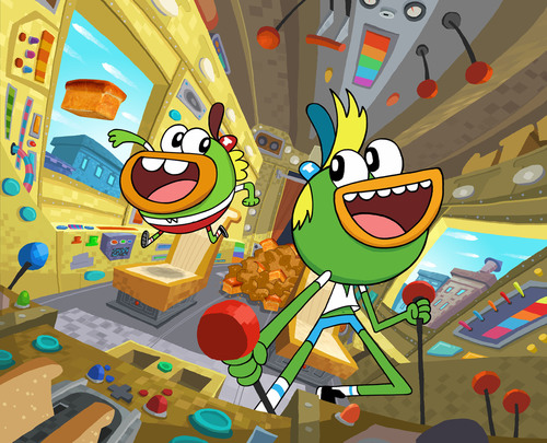 Nickelodeon Breaks Bread with Brand-New Animated Series Breadwinners, Delivering Monday, Feb. 17, at 7:30 P.M. (ET/PT). (PRNewsFoto/Nickelodeon) (PRNewsFoto/NICKELODEON)