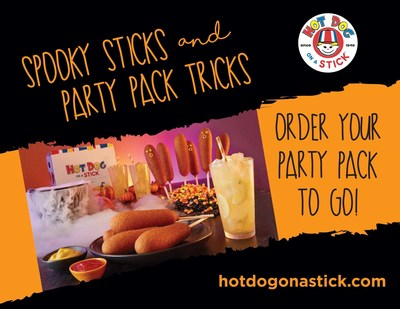 Celebrate Halloween with Spooky Sticks and Party Pack Tricks at Hot Dog on a Stick.
