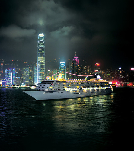 Crystal Symphony in Hong Kong's Victoria Harbour. (PRNewsFoto/Crystal Cruises)