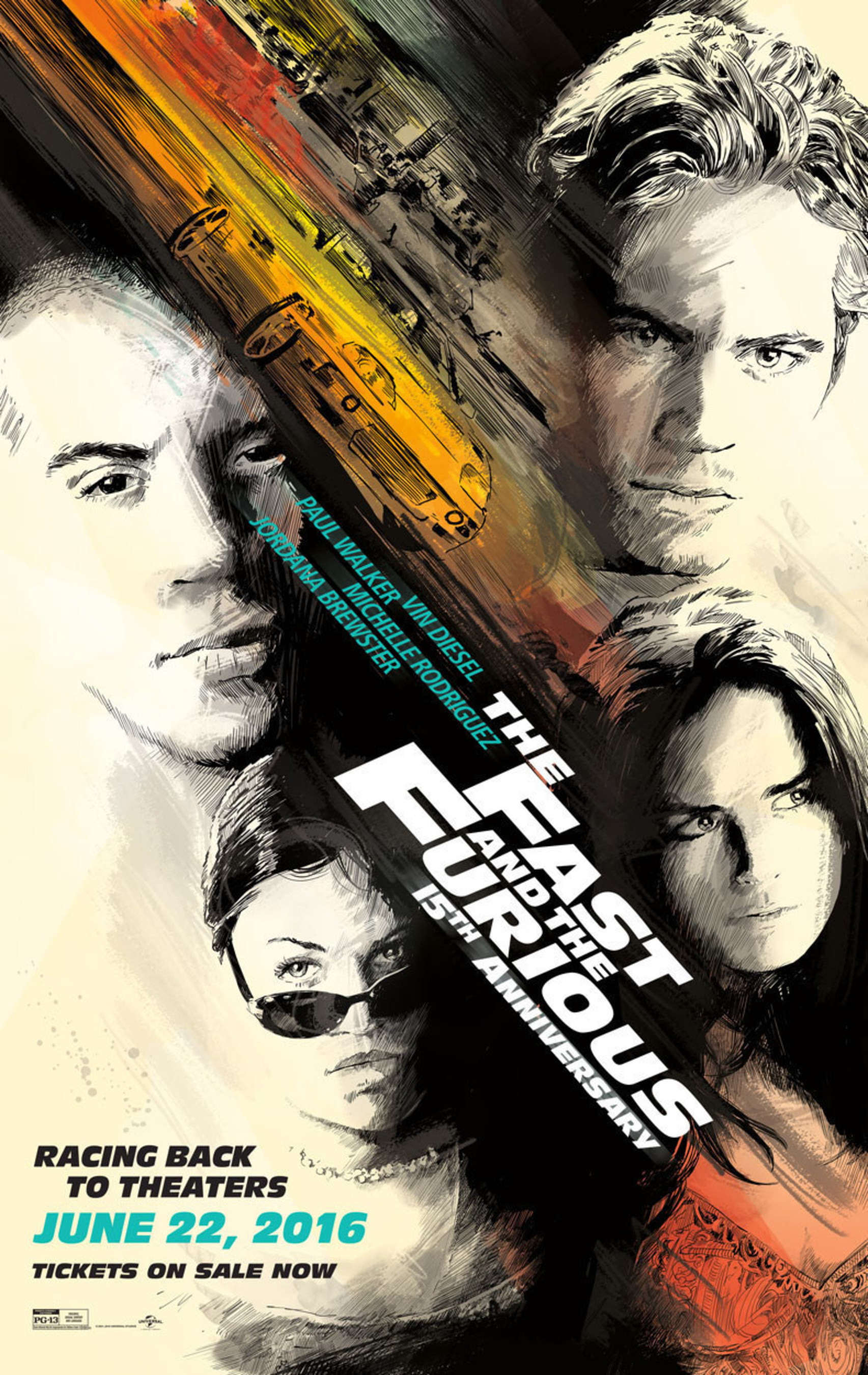 UNIVERSAL PICTURES' THE FAST AND THE FURIOUS CELEBRATES 15TH ANNIVERSARY BY RACING BACK TO THEATERS ON WEDNESDAY, JUNE 22