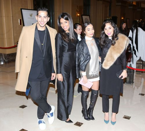 Mahmoud Sidani, Maha Abdul Rasheed, Lina Mustafa and Dana Hourani (PRNewsFoto/Farfetch and Style_com_Arabia)