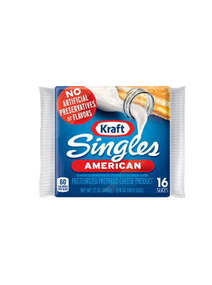 KRAFT Singles now made with No Artificial Preservatives.  (PRNewsFoto/Kraft Foods Group, Inc.)