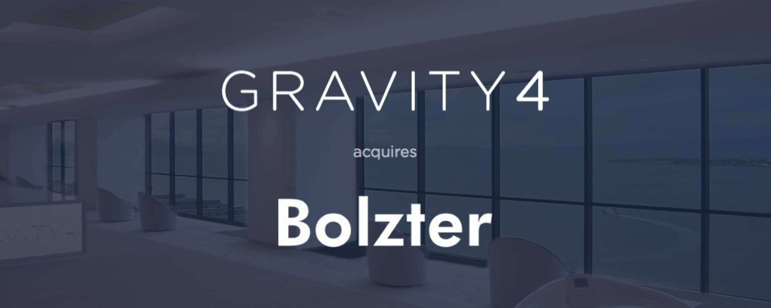 Gravity4 Acquires Bolzter; now named CrossGraph.