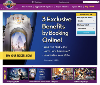 Universal Studios Hollywood introduces EZ Rez(TM), an innovative, easy-to-use online ticket purchasing system.