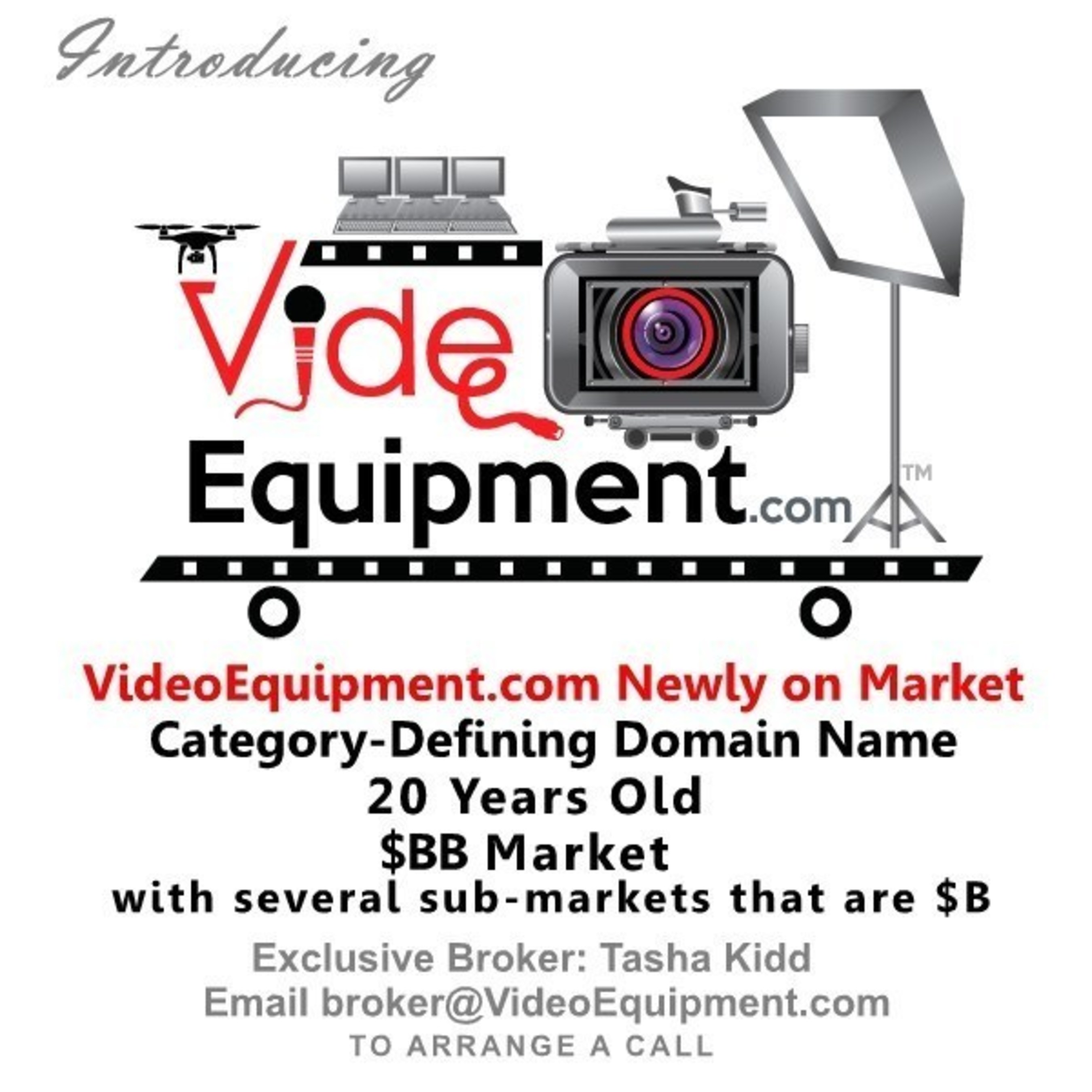 VideoEquipment.com: Rare Category-Defining Domain Name for Video Equipment Industry Goes on Market
