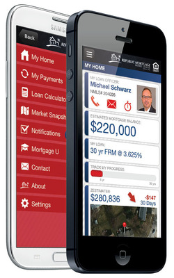 My Mortgage by Republic Mortgage Home Loans is a personalized mortgage dashboard that helps homeowners to stay up to date on all aspects of their loan.  (PRNewsFoto/Republic Mortgage Home Loans)