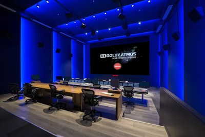 Deluxe's Mix 1 theater in its state-of-the-art post-production facility in Toronto is Canada's largest film mixing stage and features Dolby Atmos(R) technology. (PRNewsFoto/Deluxe Entertainment Services)