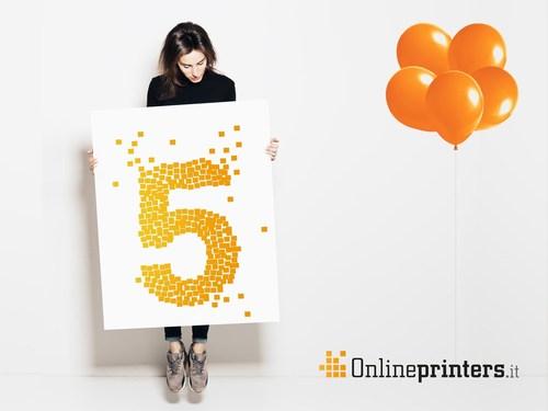 Negli ultimi cinque anni, attraverso Onlineprinters.it, sono stati venduti piu di 400 milioni di prodotti stampati, dai volantini a stand fieristici completi. (PRNewsFoto/Onlineprinters)