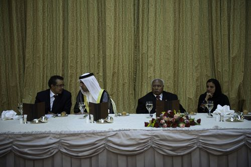 HH Sheikh Faisal in discussions with Dr Tedros Adhanom at the National Palace, hosted by the President of ...