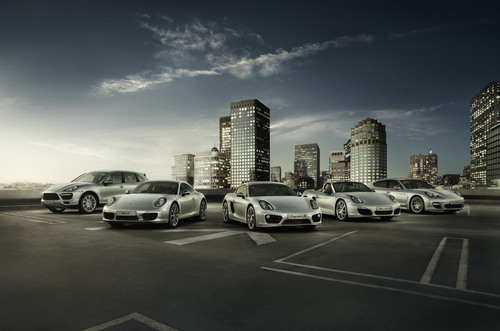 Full range of Porsche models. (PRNewsFoto/Porsche China) (PRNewsFoto/PORSCHE CHINA)