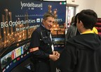 LyondellBasell Technician Gary Passi speaks with students at JA Inspire at Lee College.