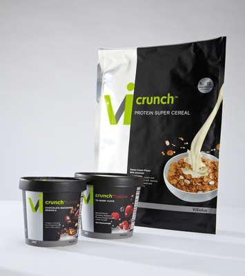 "Health and wellness company ViSalus puts the ""real"" back into cereal, with new ViCrunch Protein Super Cereal and Vi-Crunch Fusions flavor mix-ins.  (PRNewsFoto/ViSalus)"