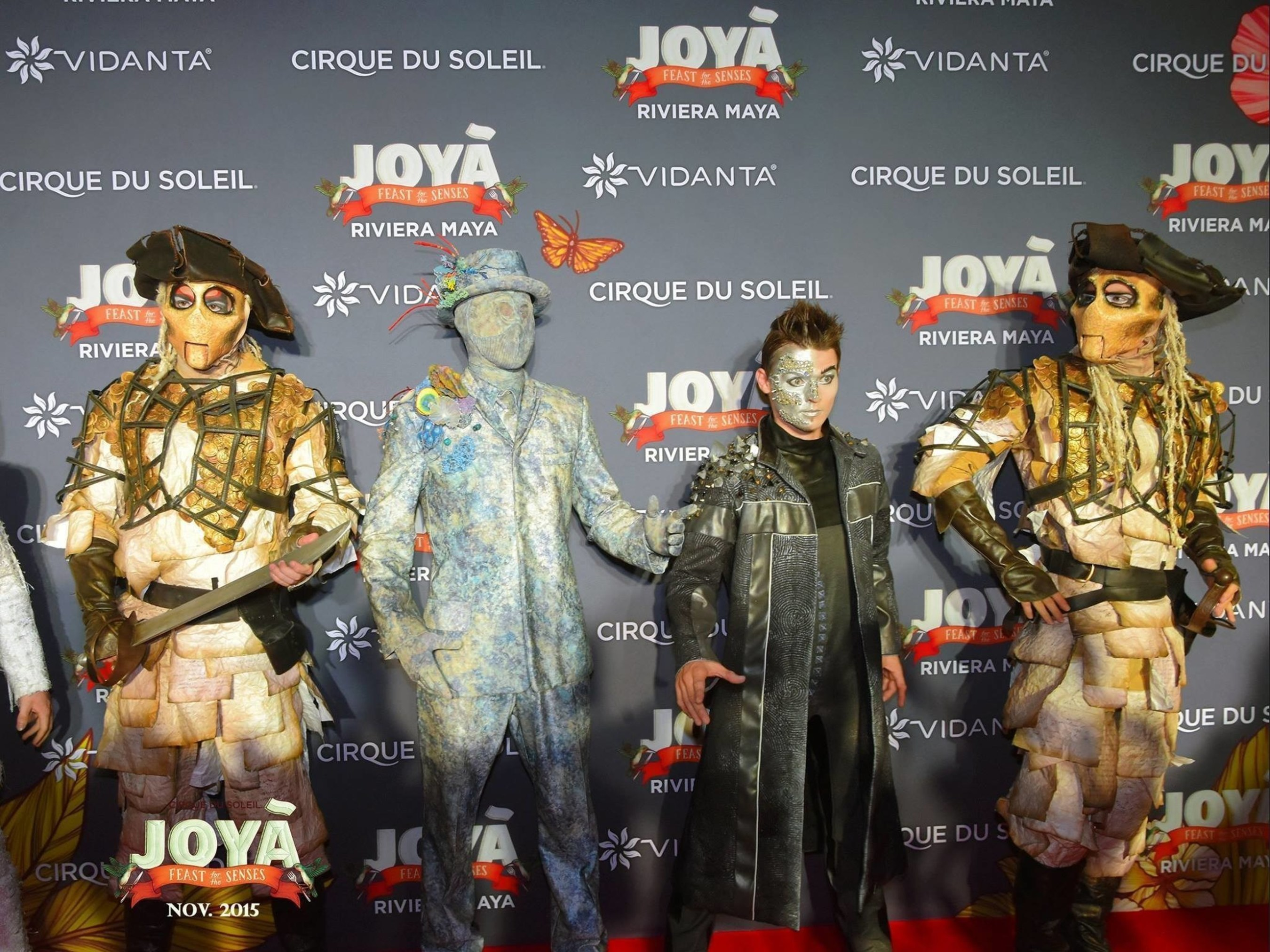 Members of the JOYA cast walk the red carpet at the anniversary celebration.