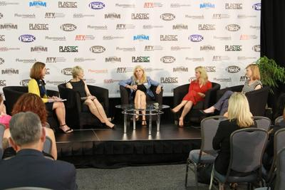 Women in Medtech panel discussion at Center Stage (PRNewsFoto/UBM Canon)