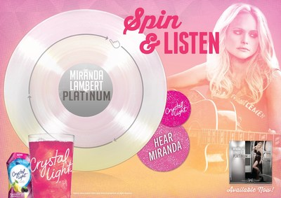 Crystal Light Miranda Lambert Playable Poster (PRNewsFoto/Kraft Foods Group)