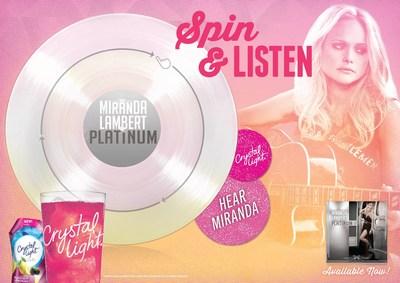 Crystal Light Miranda Lambert Playable Poster (PRNewsFoto/Kraft Foods Group)