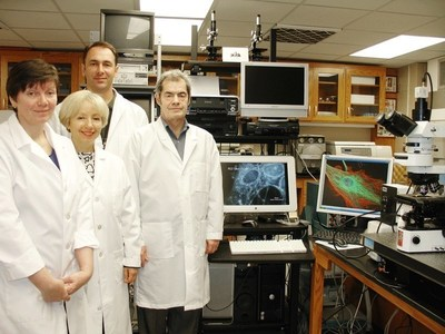 From Left to right: Dr. Ludmila Globa, Dr. Iryna Sorokulova, Dr. Oleg Pustovvy and Dr. Vitaly Vodyanoy.