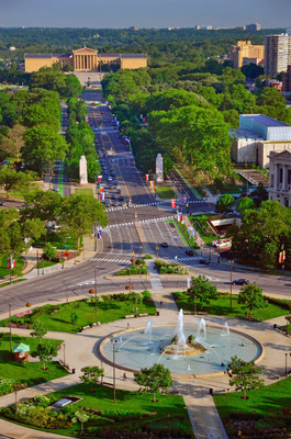 The Philadelphia Museum of Art crowns the city's culturally rich Benjamin Franklin Parkway. The mile-long stretch is home to many parks, public works of art and museums, including Swann Memorial Fountain (pictured), the Barnes Foundation, the Rodin Museum, The Franklin Institute, The Academy of Natural Sciences, Sister Cities Park and many other attractions.  (PRNewsFoto/Greater Philadelphia Tourism Marketing Corporation, Photo by B. Krist for GPTMC)