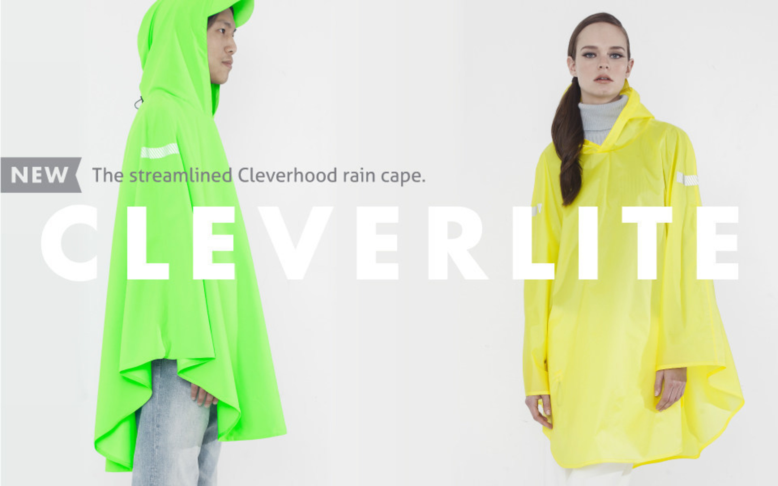 Cleverhood's new line of rain capes made in Fall River. Bike-ready for livable cities.