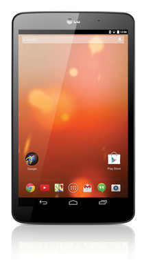 The new LG G Pad 8.3, the first-ever Google Play Edition Tablet.  (PRNewsFoto/LG Electronics USA)