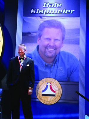 Cirrus Aircraft Co-Founder Dale Klapmeier is inducted into the National Aviation Hall of Fame. (PRNewsFoto/Cirrus Aircraft)