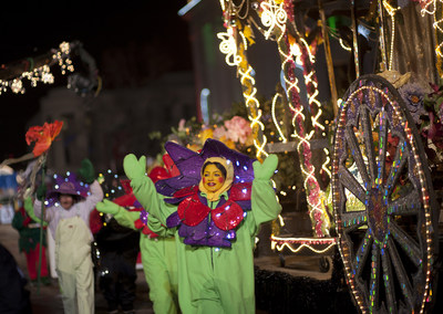 The 9News Parade of Lights is the signature event of Denver's holiday season. Photo credit Evan Semon