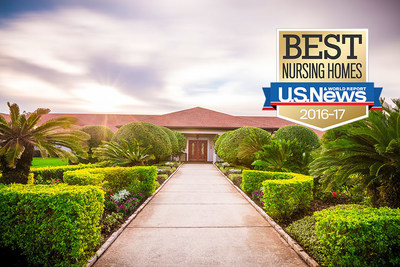 Westchester Gardens Rehabilitation Care Center in Clearwater, Florida Recognized as a 2016-17 Best Nursing Home by U.S. News & World Report